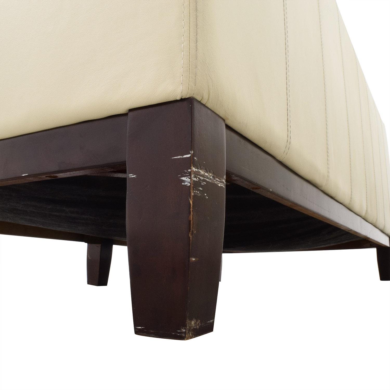 72 off decoro decoro off white leather sofa sofas - Home design decoro shopping ...