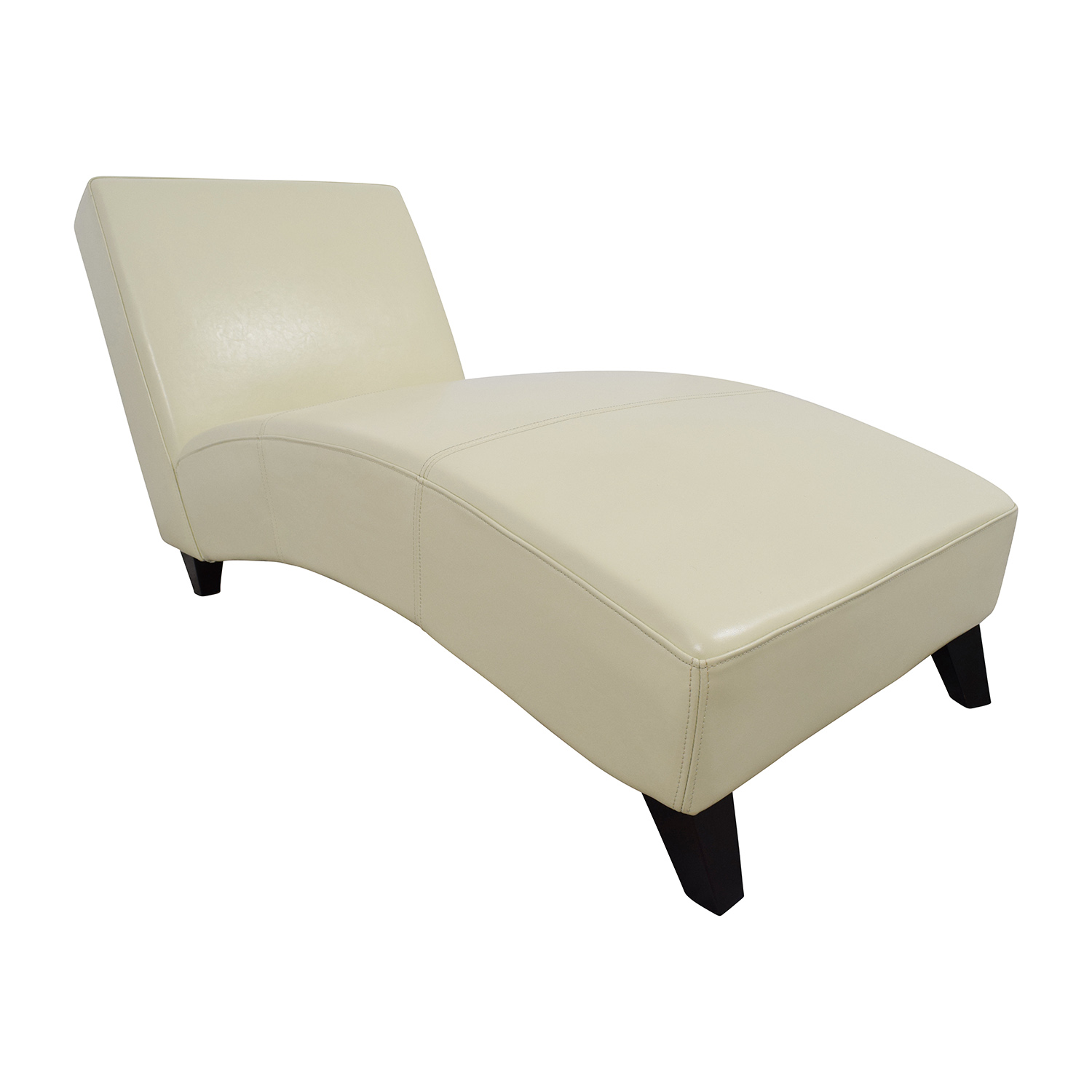 Wayfair Wayfair White Leather Chaise second hand