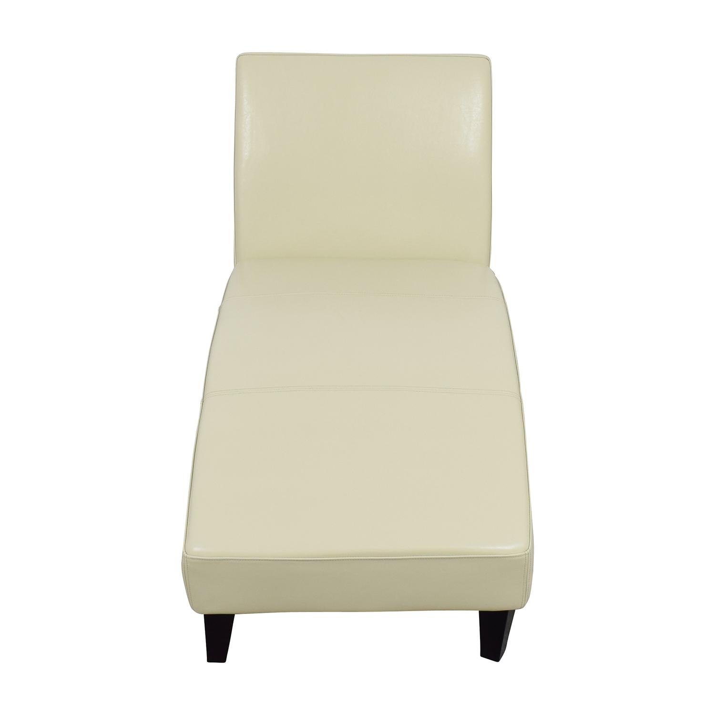 Wayfair Wayfair White Leather Chaise on sale