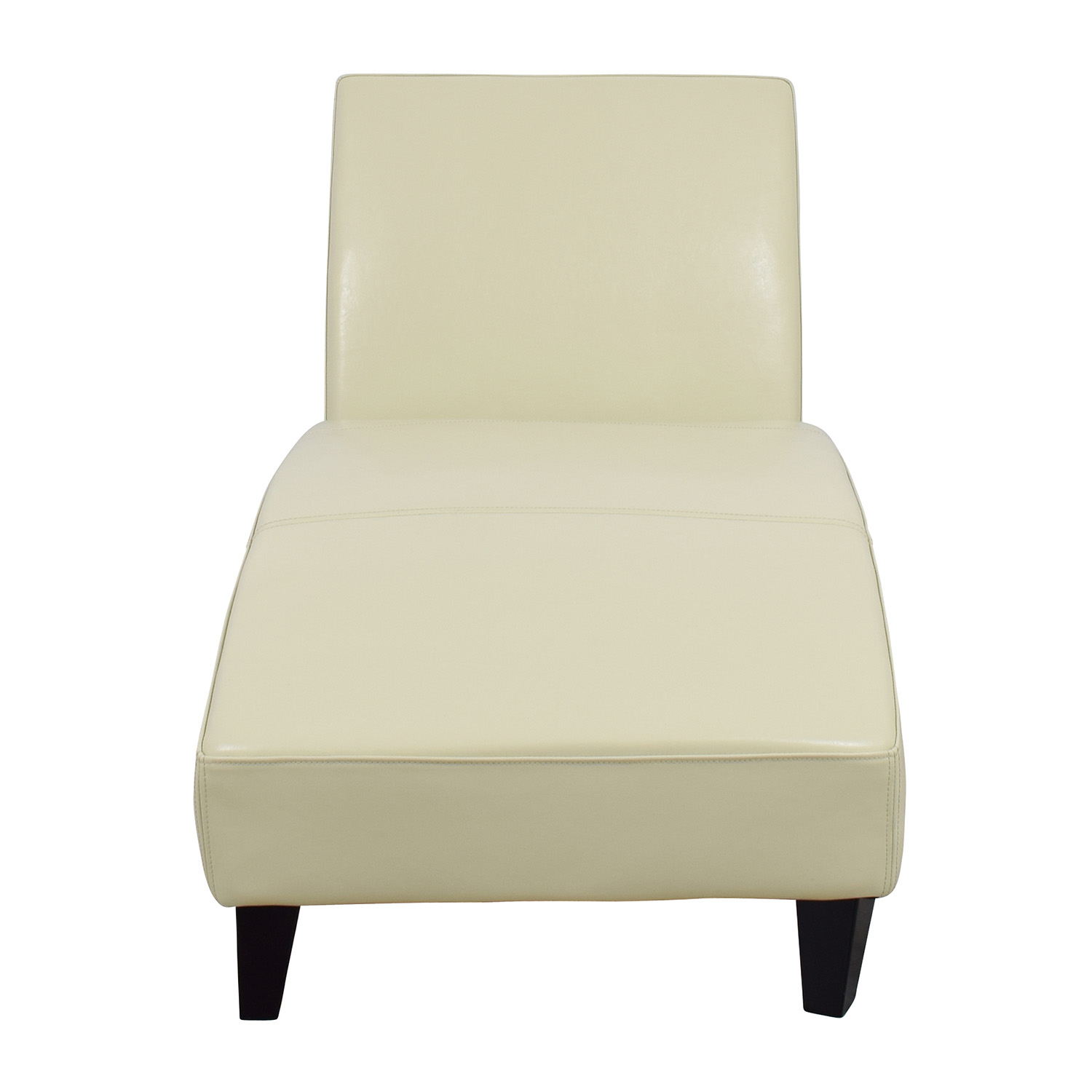 Wayfair Wayfair White Leather Chaise for sale