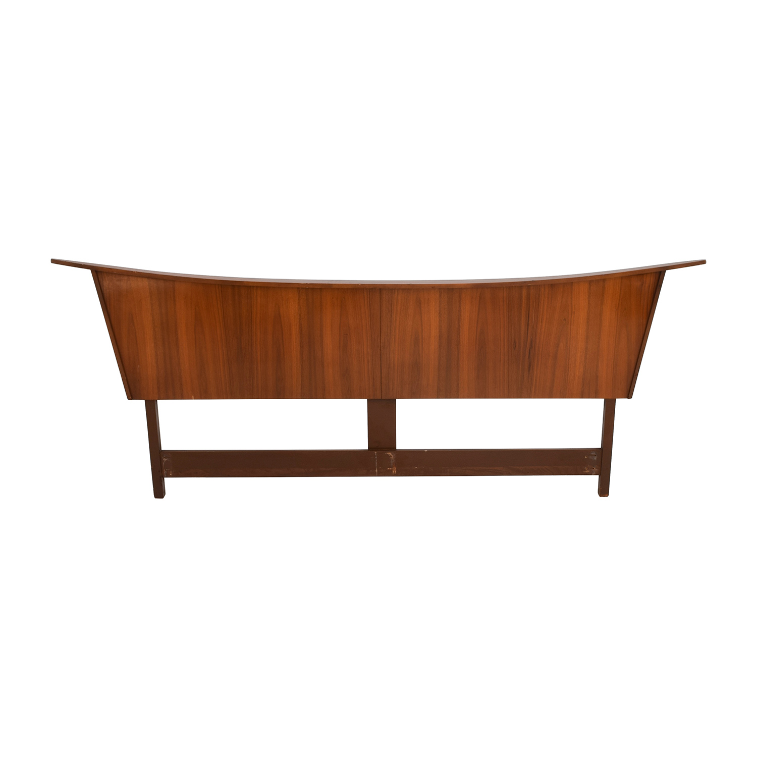 Mid-Century Maple Wood King Headboard Headboards