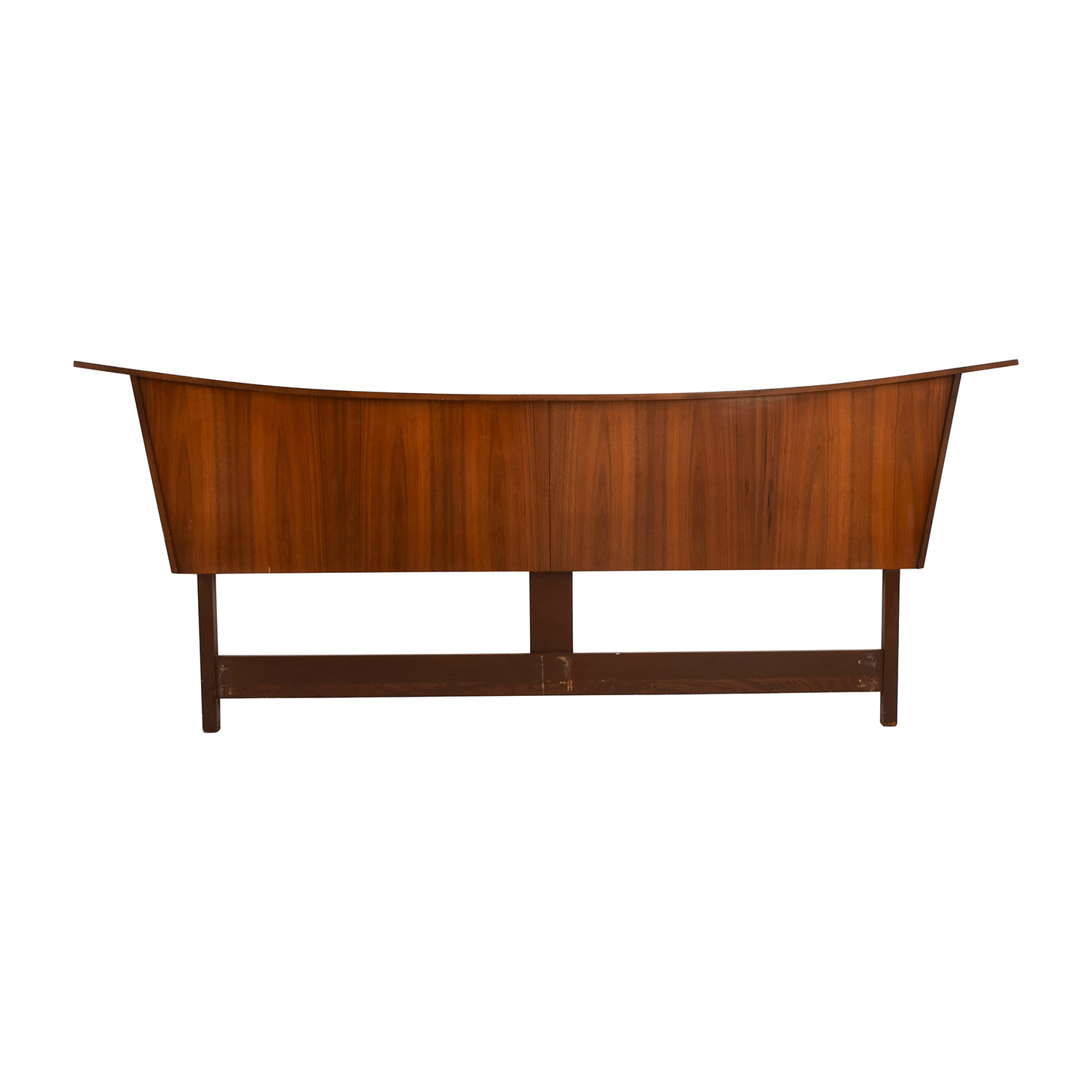 Mid-Century Maple Wood King Headboard second hand