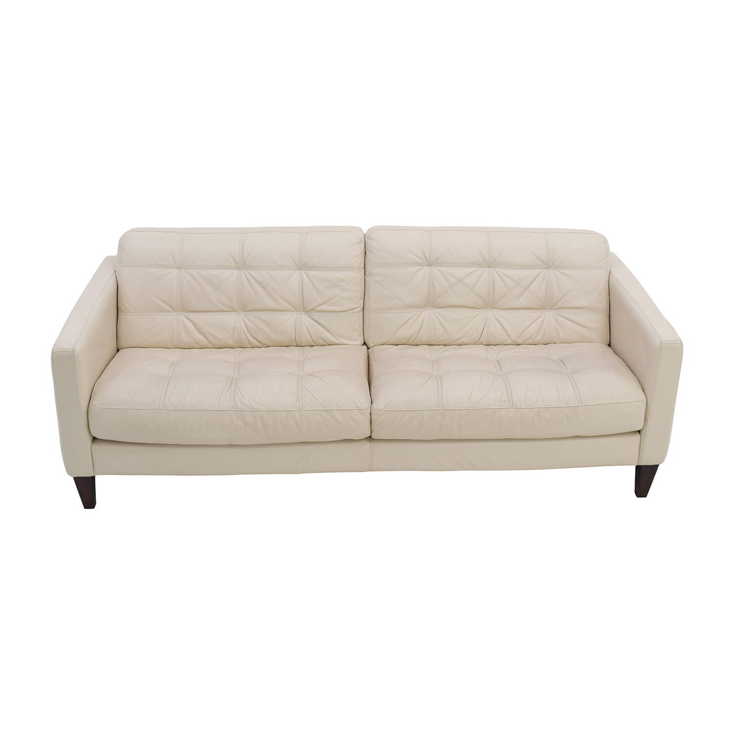buy Macys Milan Pearl Leather Sofa Macys Sofas