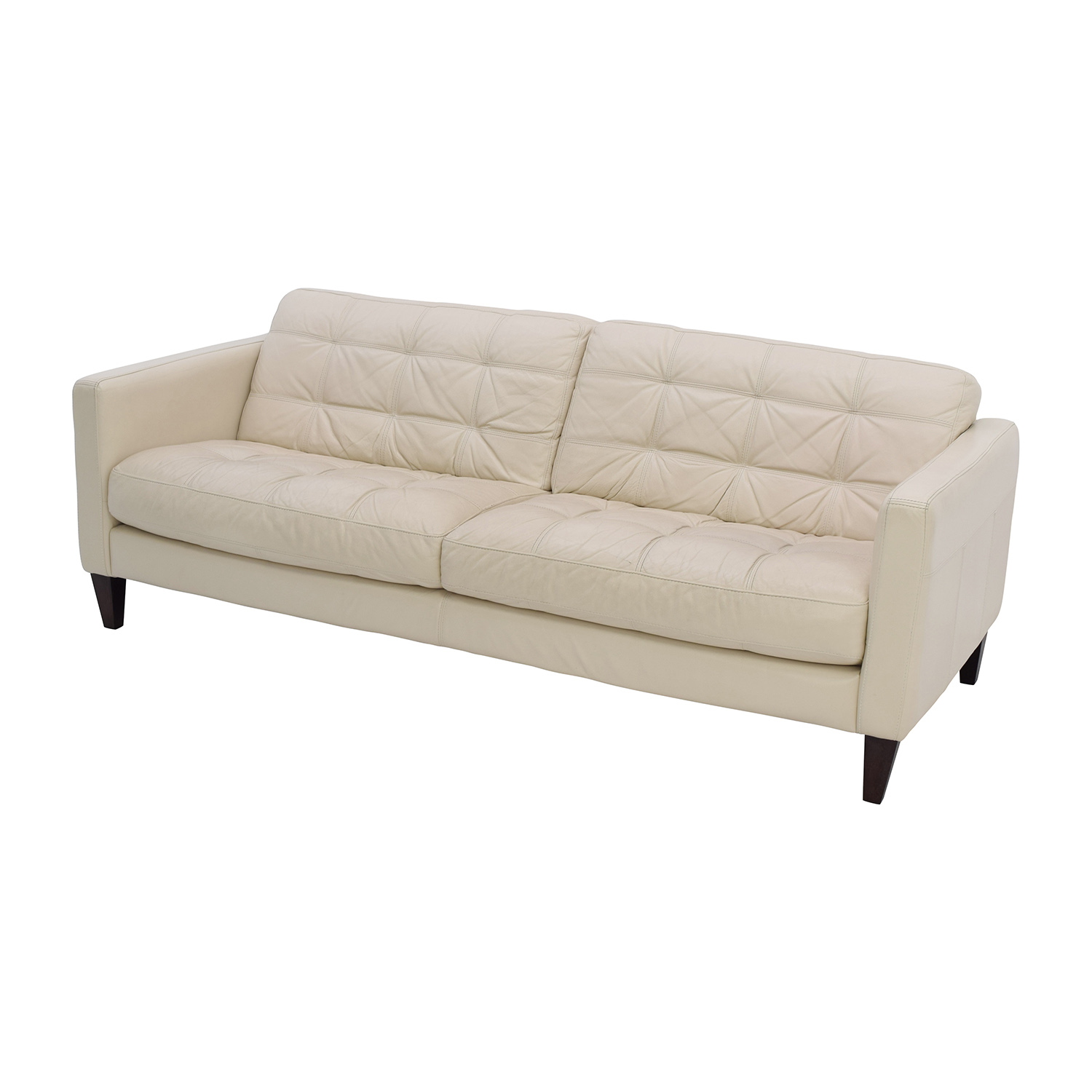 Macy's Macy's Milan Pearl Leather Sofa / Sofas