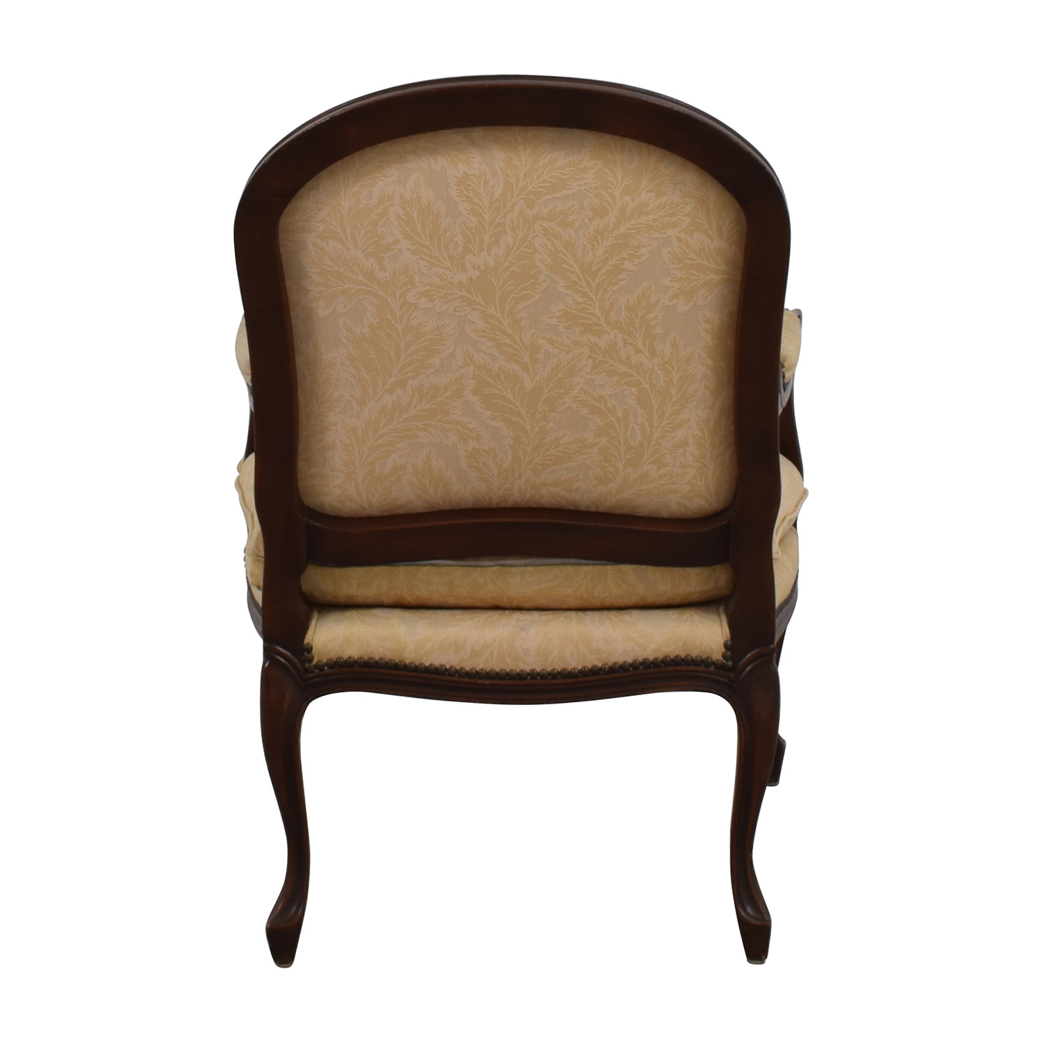 75 Off Gold Floral Jacquard Upholstered Studded Accent