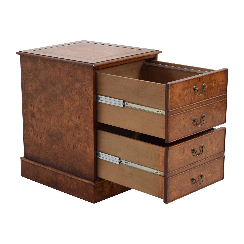 66 off wood two drawer file cabinet storage. Black Bedroom Furniture Sets. Home Design Ideas