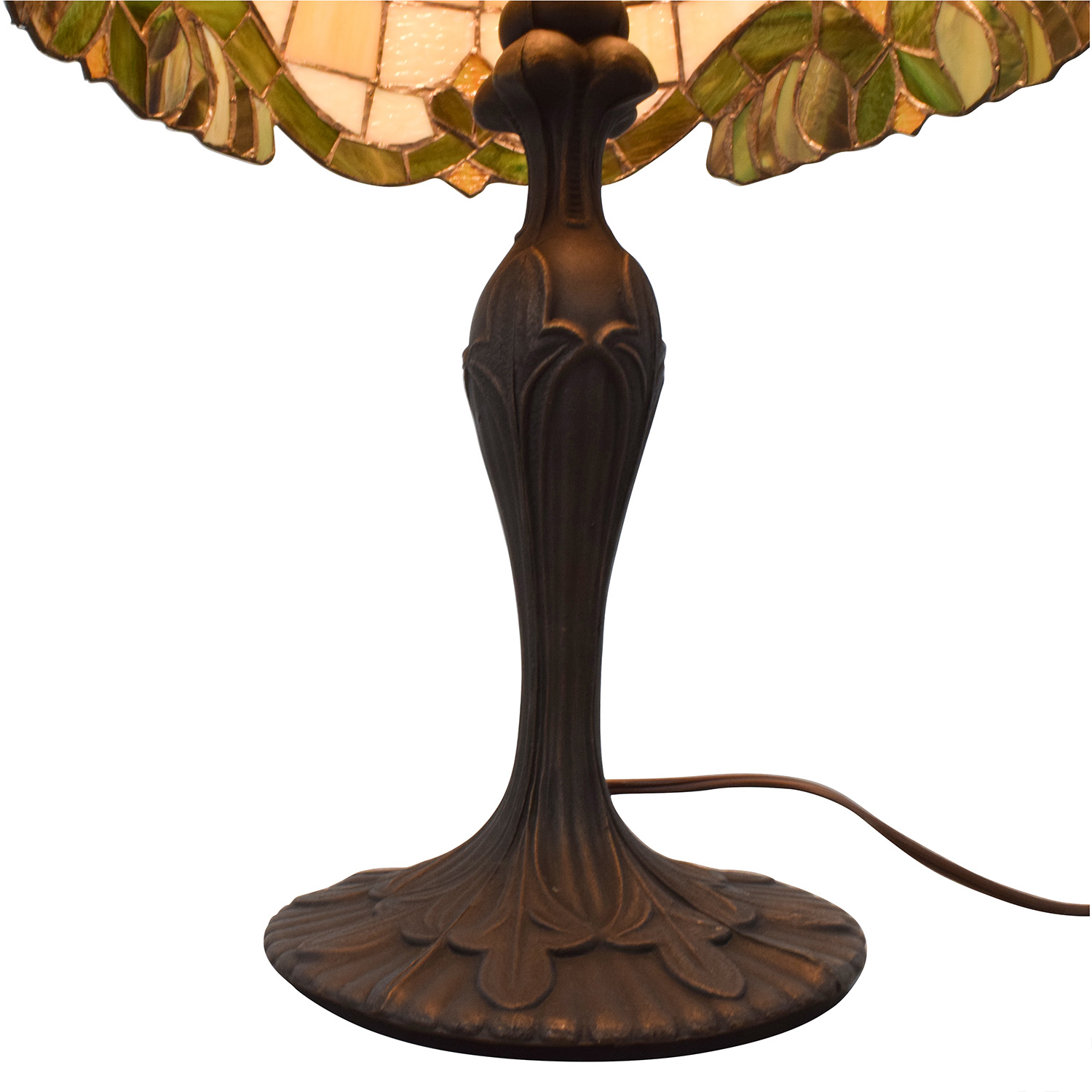 68 Off Tiffany Style Lamp With Stained Glass And Metal