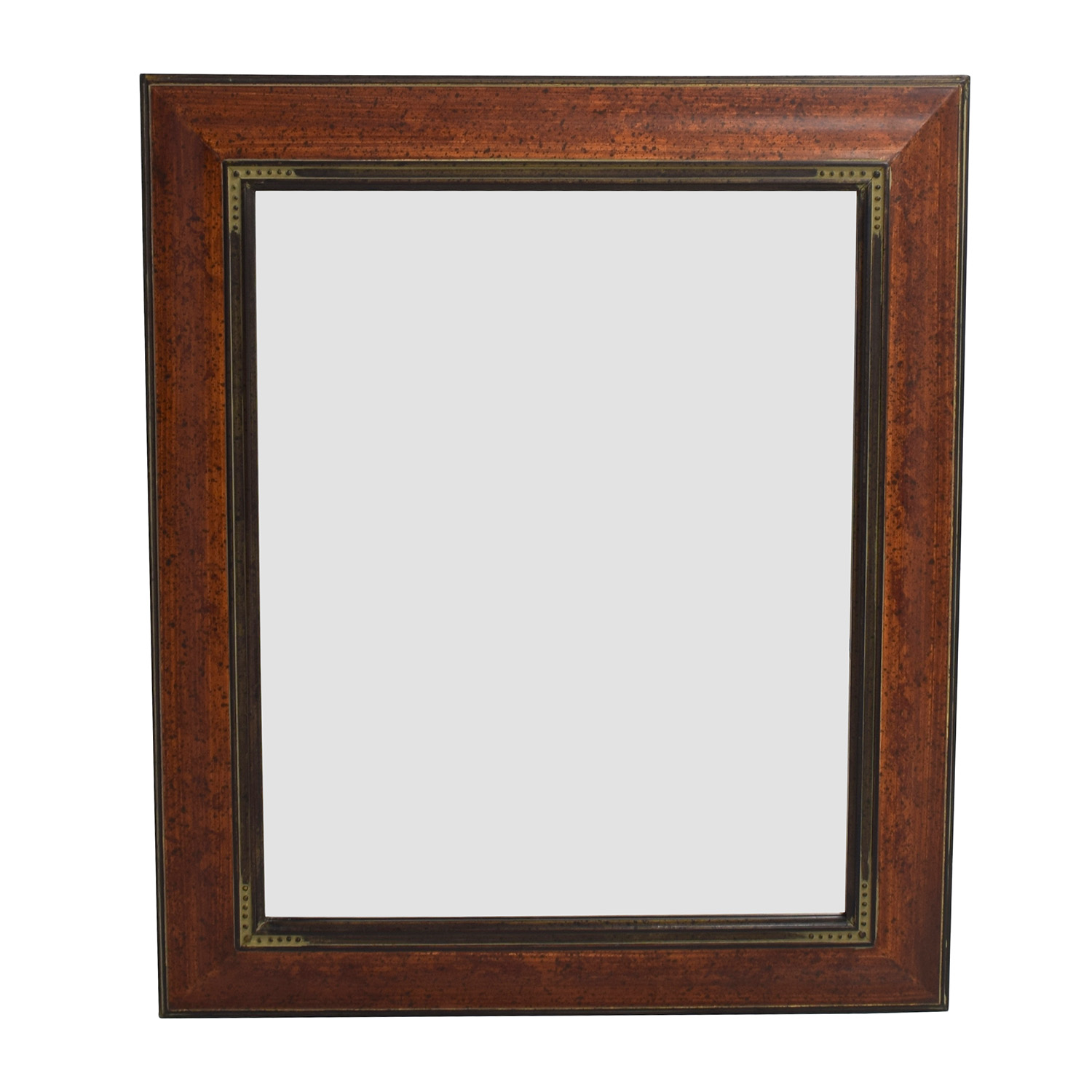 Brown Wood Framed Mirror Mirrors