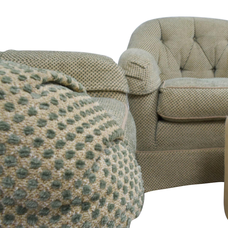90% OFF Sherrill Furniture Sherrill Furniture Skirted Swivel