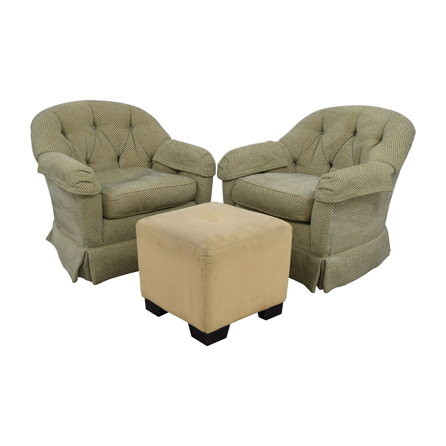 89% OFF Sherrill Furniture Sherrill Furniture Skirted Swivel