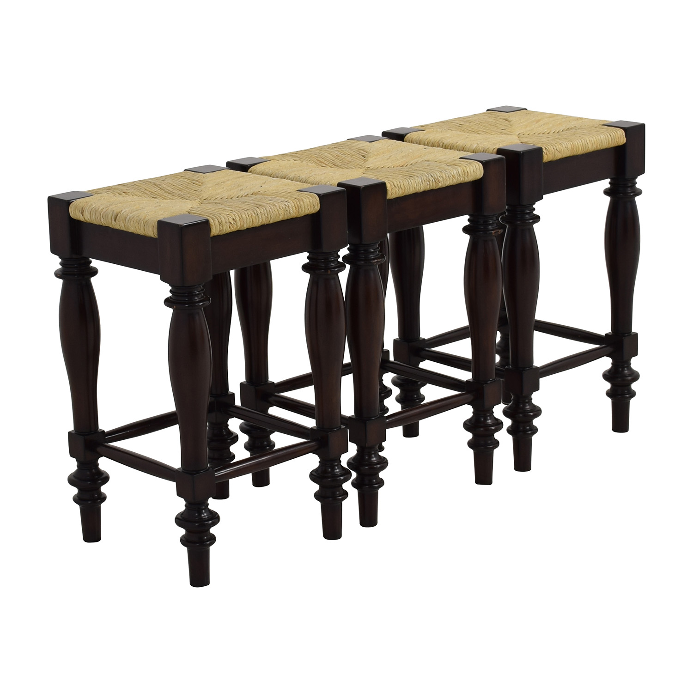 Woven Seat Wood Bar Stools Stools