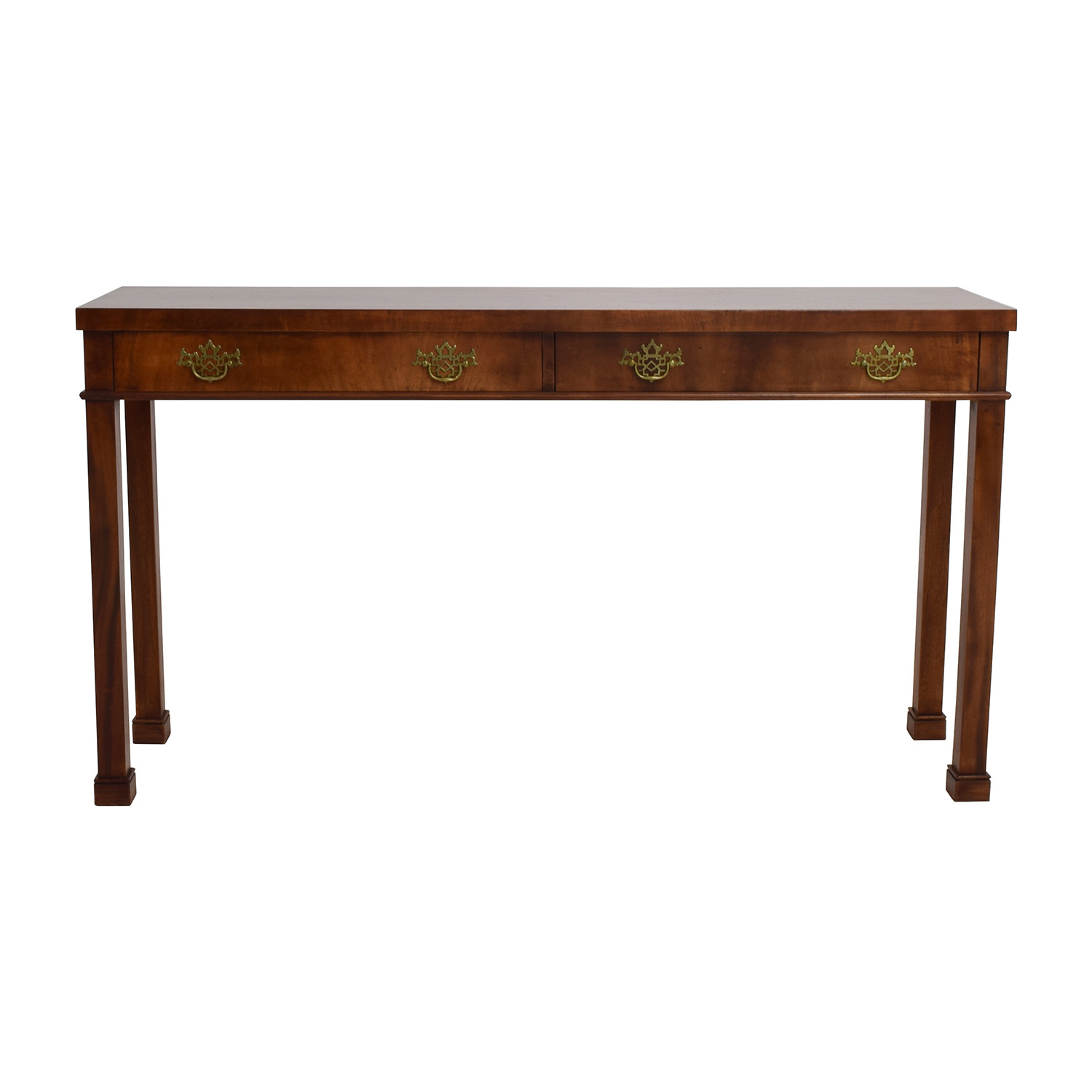 Custom Two-Drawer Wood Sofa Table for sale