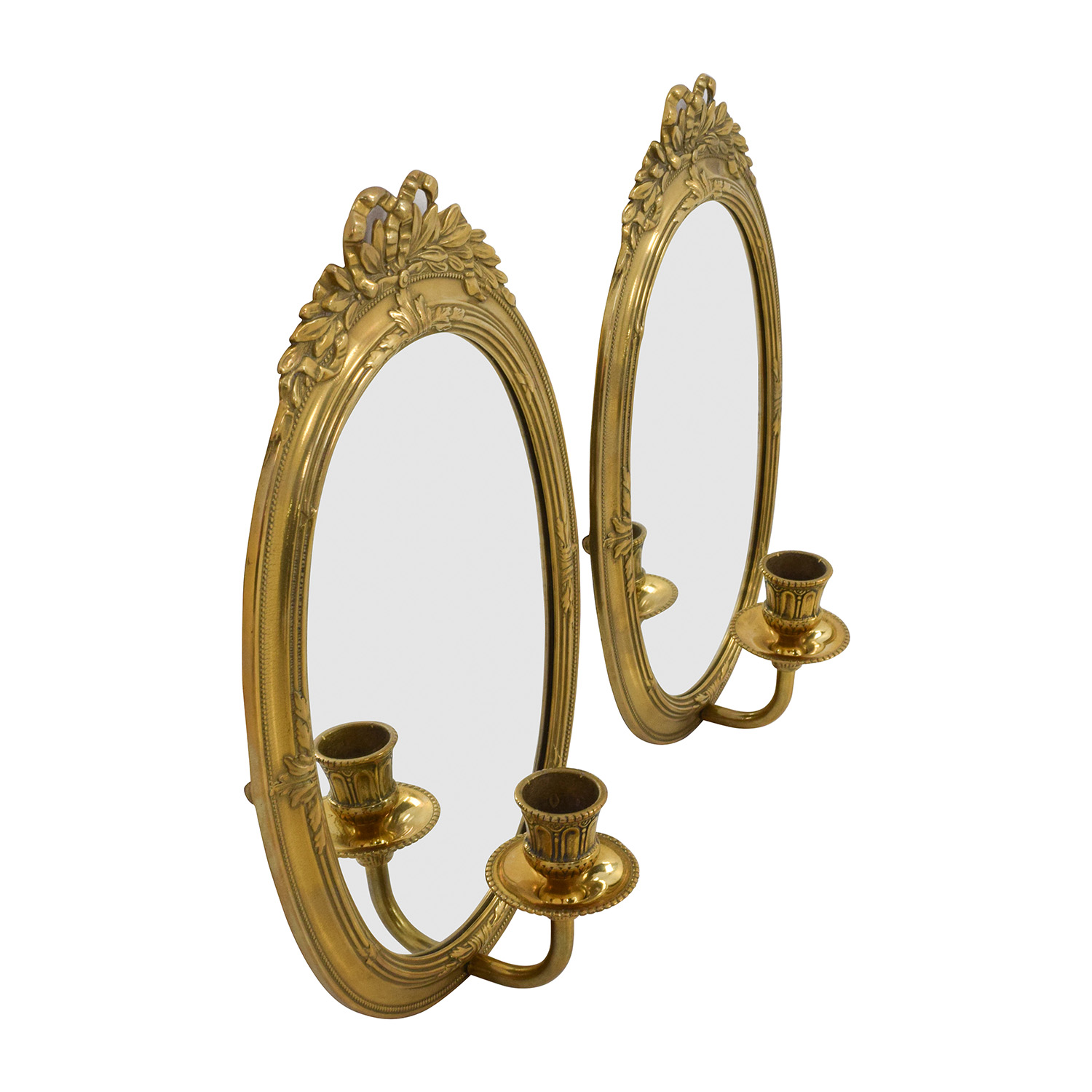 Vintage Gold Frame Wall Mirrors with Candle Holder discount