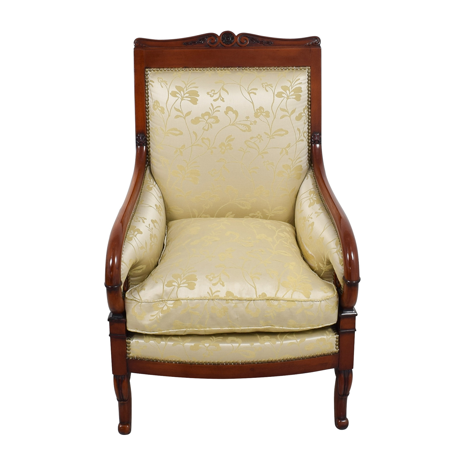 Merveilleux ... Silk Damask Gold Upholstered Chair For Sale ...