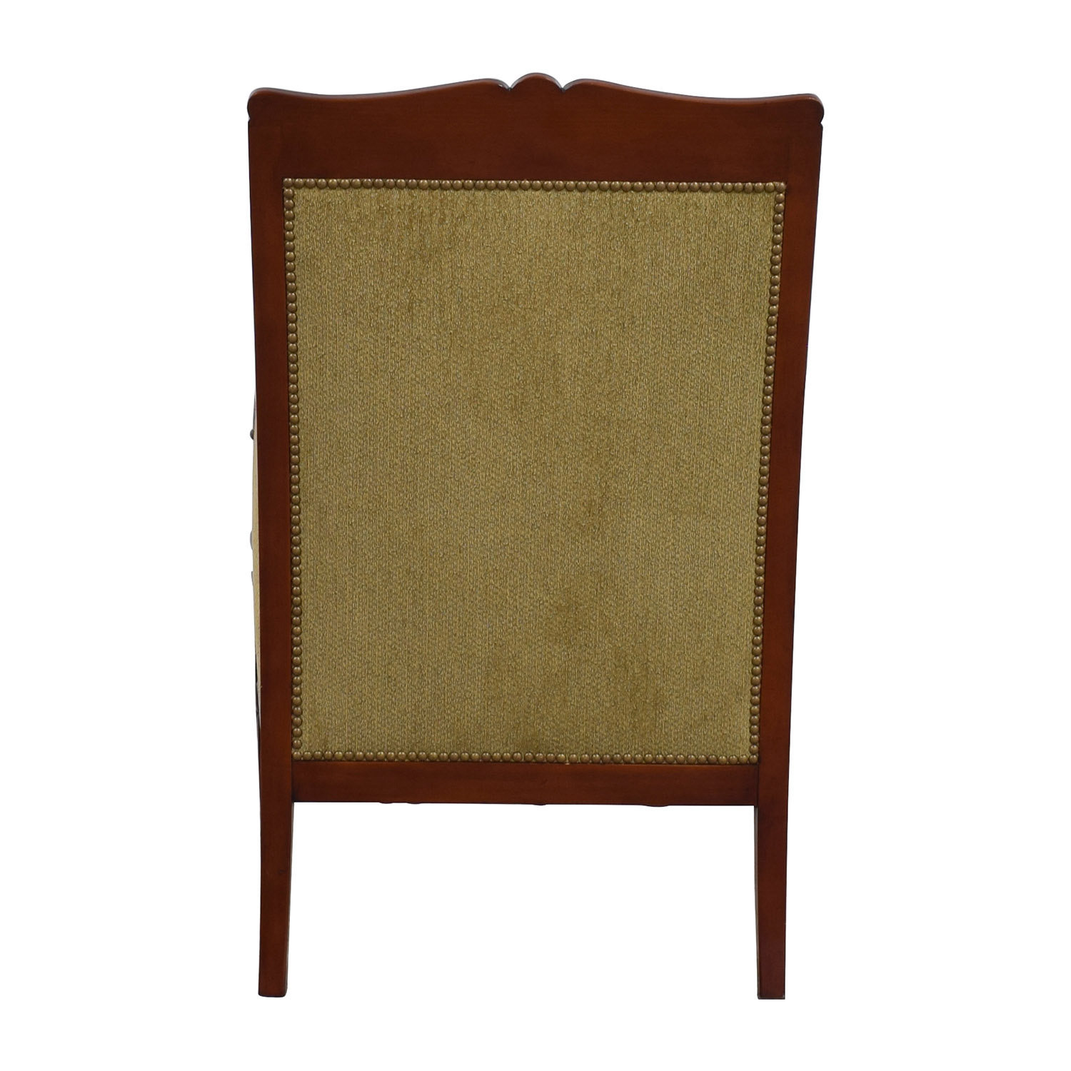 Silk Damask Gold Upholstered Chair