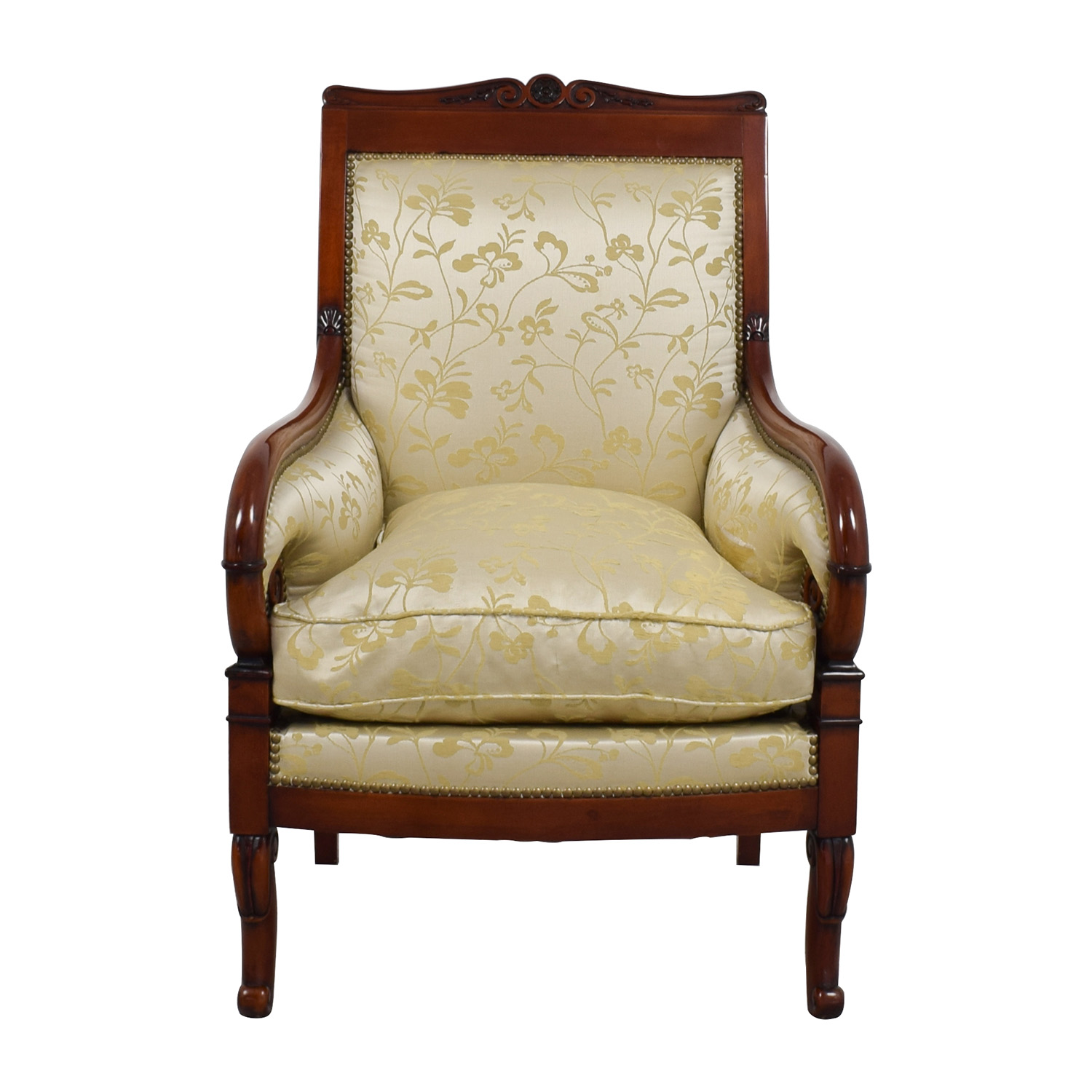 Charmant Silk Damask Gold Upholstered Chair ...