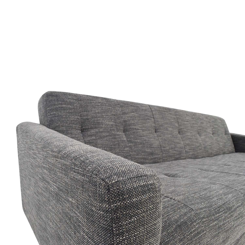 West Elm Kiko Futon Sofa in Charcoal Grey West Elm