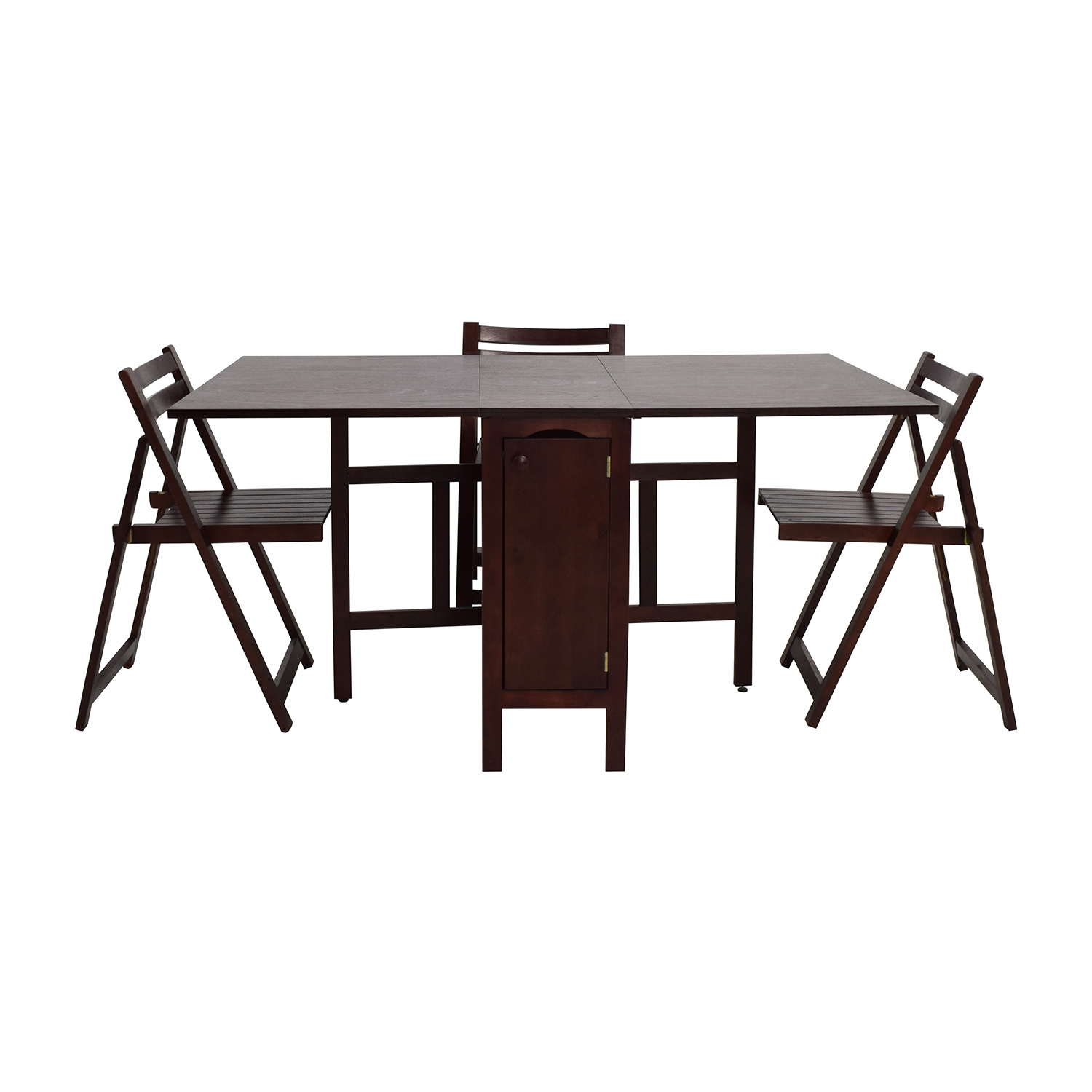 66 Off Foldable Kitchen Table With Folding Chairs Tables