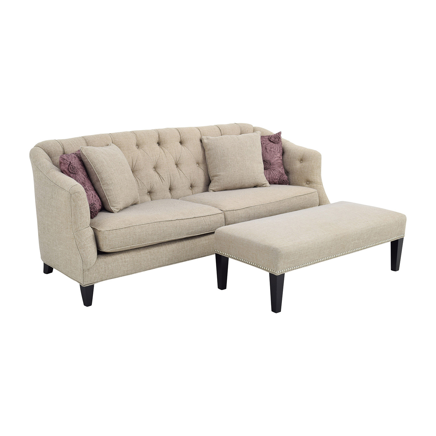 71% OFF Raymour and Flanigan Raymour & Flanigan Tufted Beige