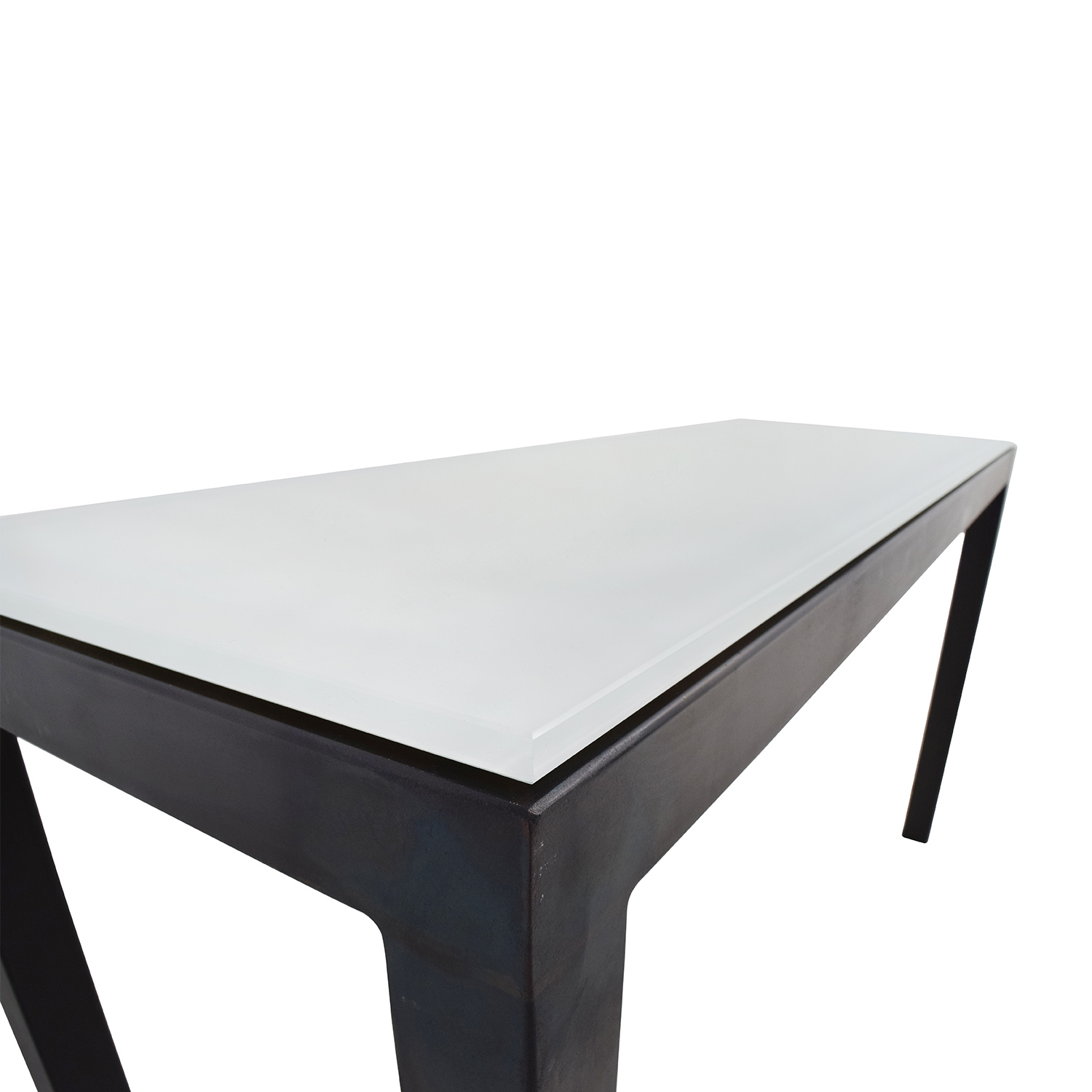 Room And Board Room U0026 Board White Glass Parsons Table Nj