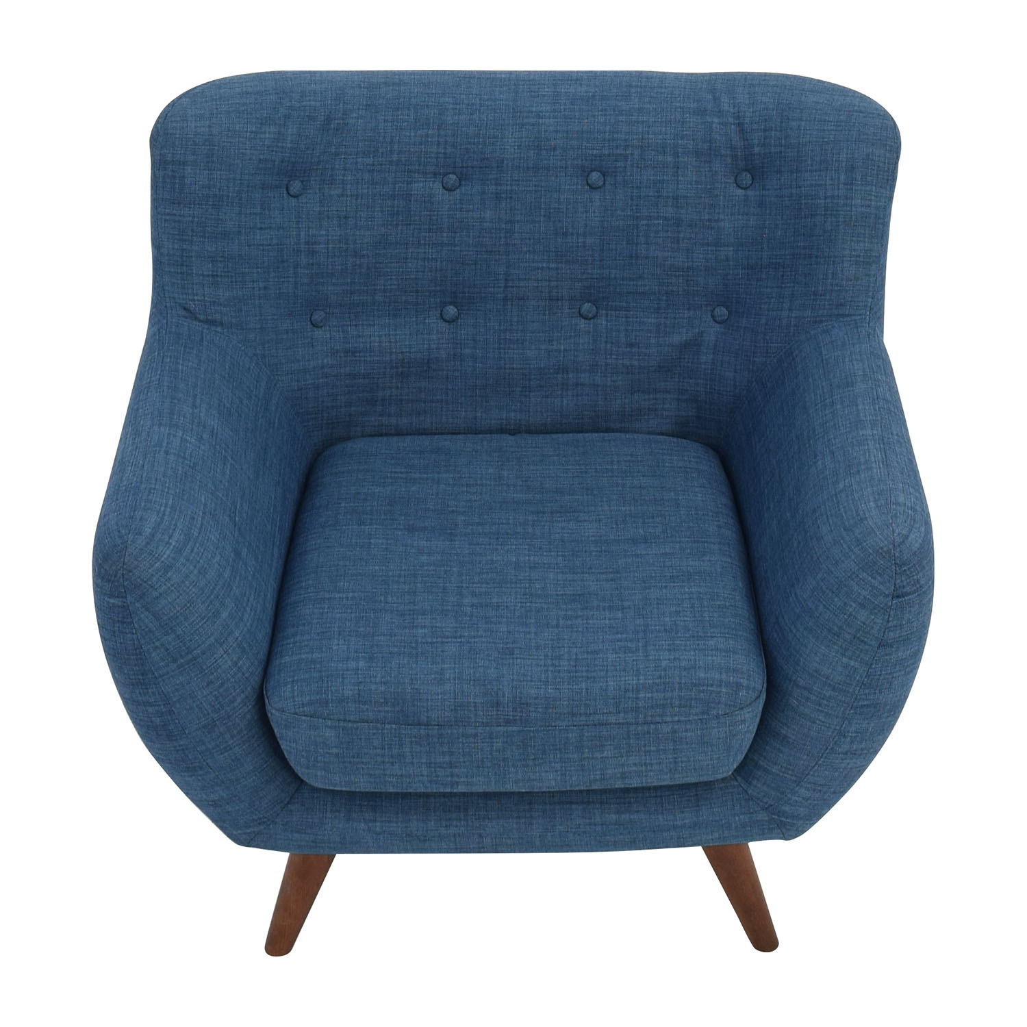 Olson Olson Mid-Century Blue Tufted Arm Chair used