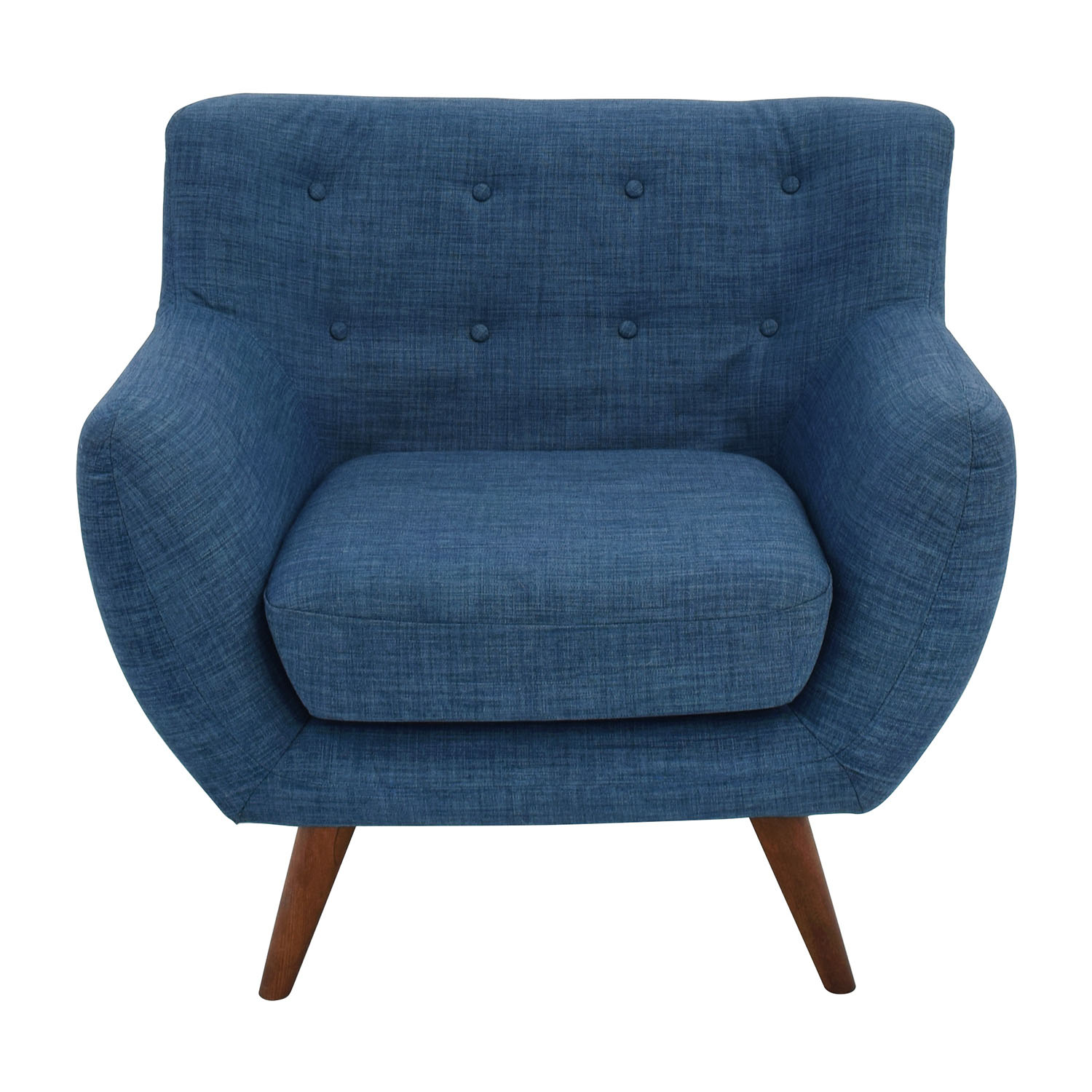 Olson Olson Mid-Century Blue Tufted Arm Chair coupon