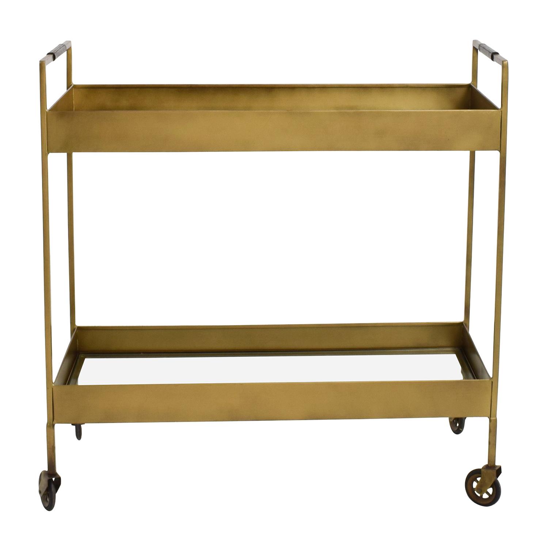68% OFF - Crate & Barrel Crate & Barrel Libations Bar Cart / Tables