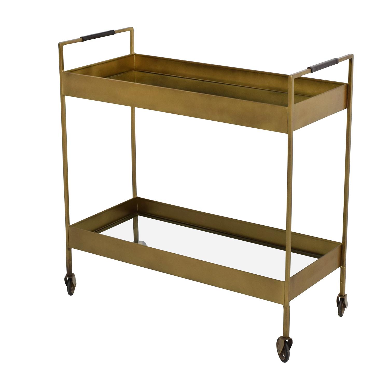 68 Off Crate And Barrel Crate Barrel Libations Bar Cart Tables