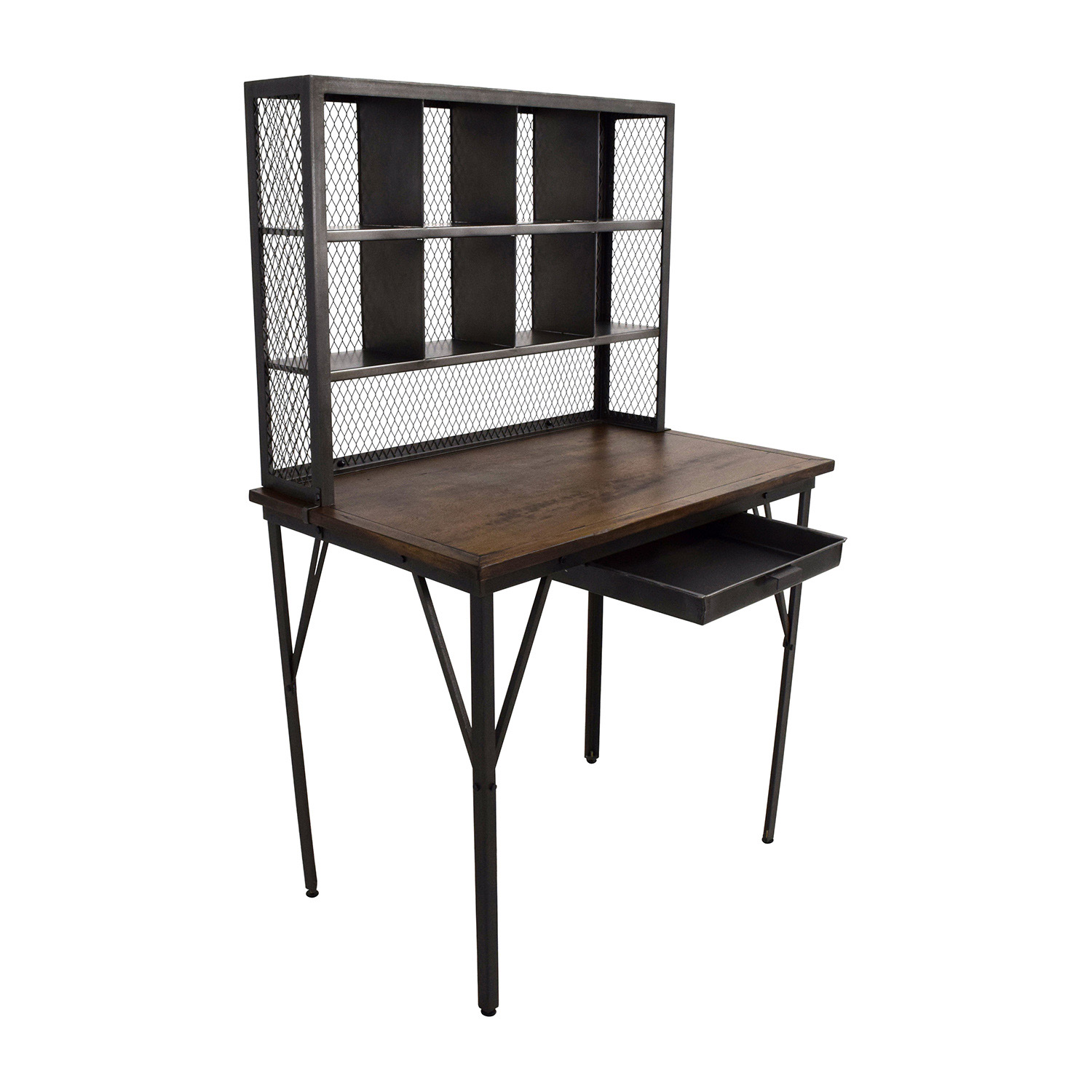 World Market Reclaimed Wood And Iron Base Standing Desk Online