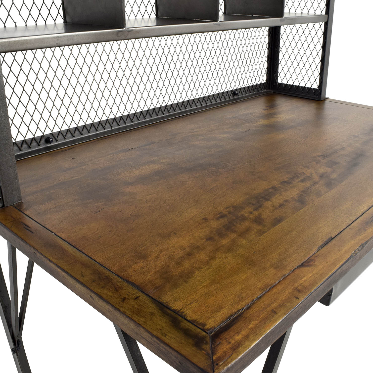 60 Off World Market World Market Reclaimed Wood And Iron Base Standing Desk Tables