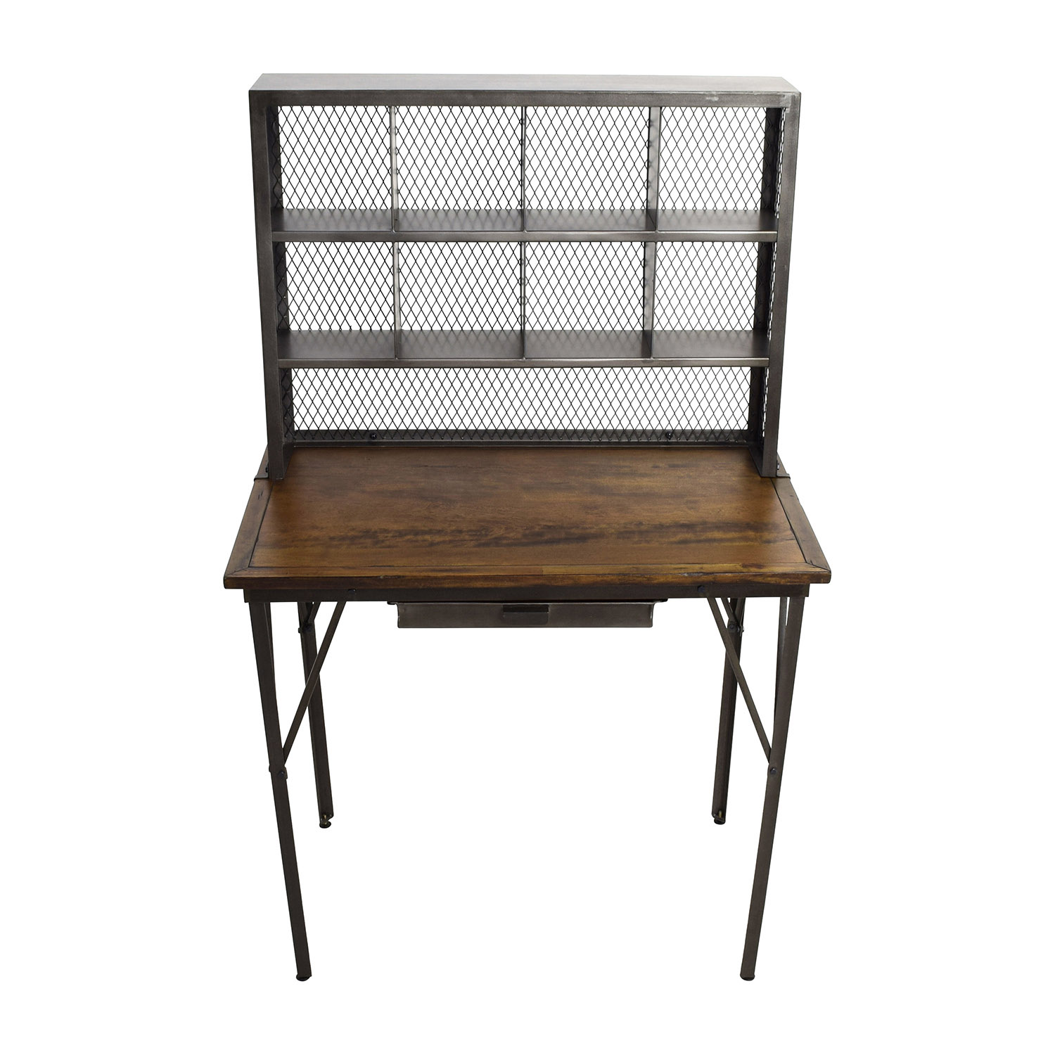 World Market Reclaimed Wood And Iron Base Standing Desk Tables