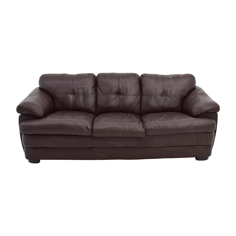 Wondrous 40 Off Brown Faux Leather Couch Sofas Customarchery Wood Chair Design Ideas Customarcherynet