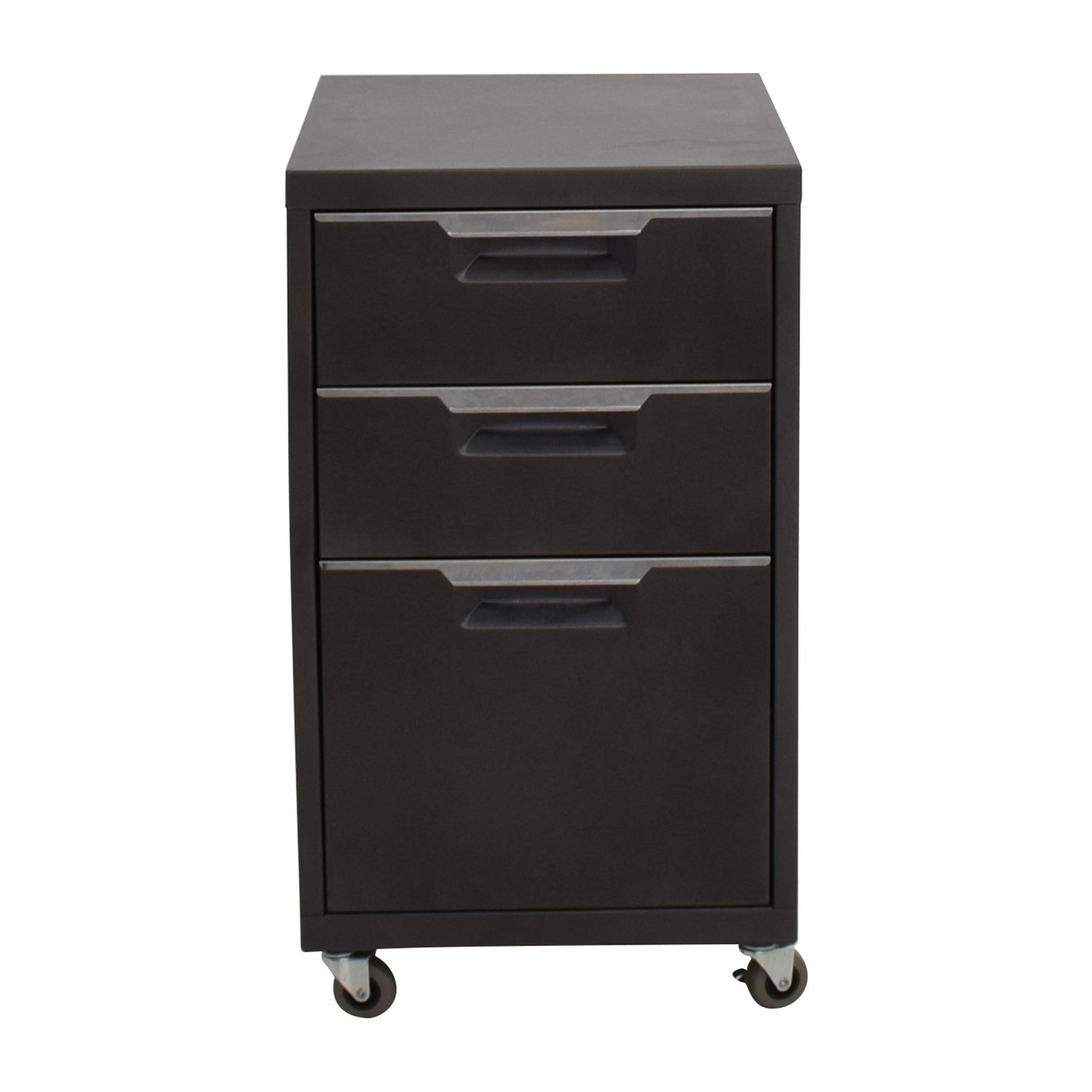 shop CB2 Grey Three-drawer Filing Cabinet CB2 Filing & Bins