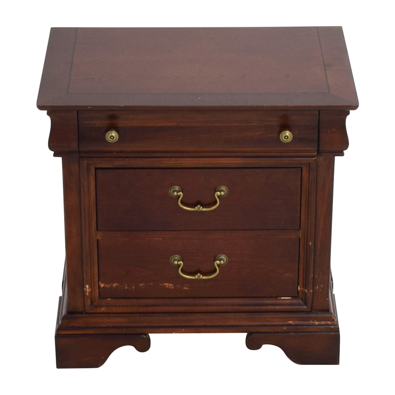shop Three-Drawer Wood Nightstand Tables