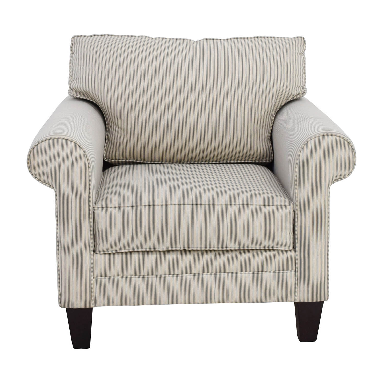 Buy Raymour And Flanigan Raymour And Flanigan Striped Cream Chair Online