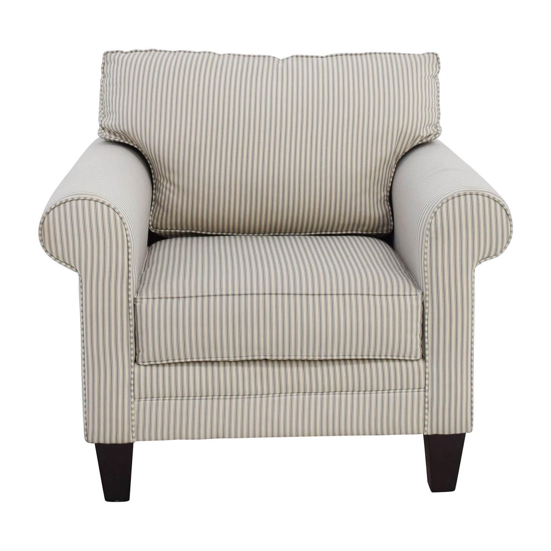 Raymour and Flanigan Raymour and Flanigan Striped Cream Chair  sc 1 st  Kaiyo & 50% OFF - Raymour u0026 Flanigan Raymour and Flanigan Striped Cream ...