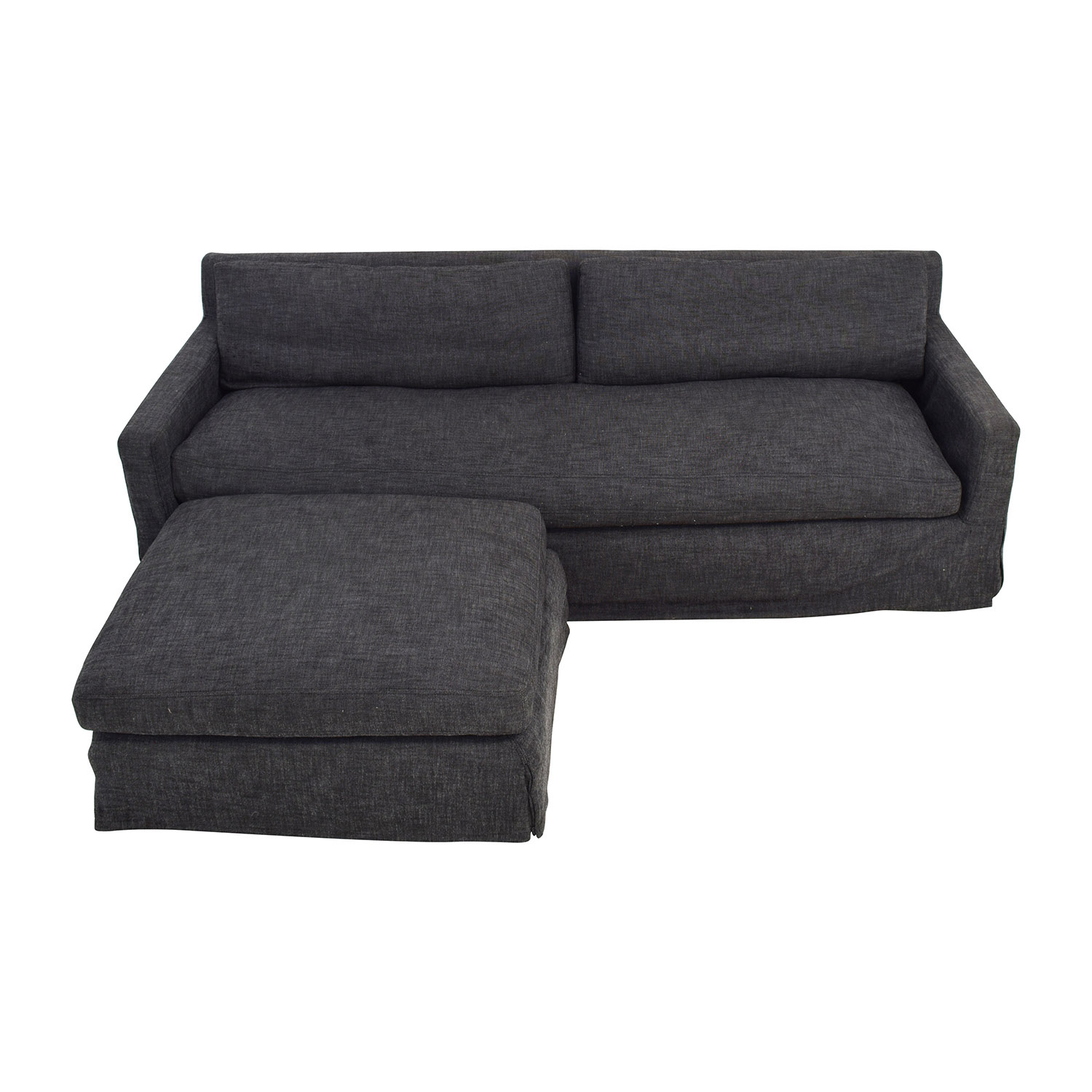 Restoration Hardware Restoration Hardware Belgian Track Arm Slipcover Sofa with Ottoman price