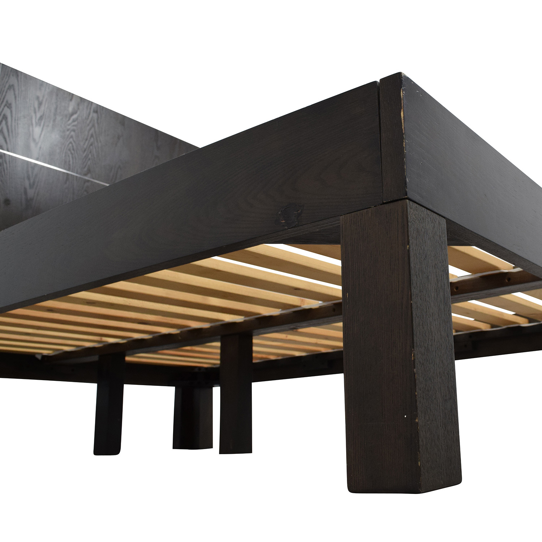 62% OFF - West Elm West Elm Dark Brown Full Size Bed Frame / Beds