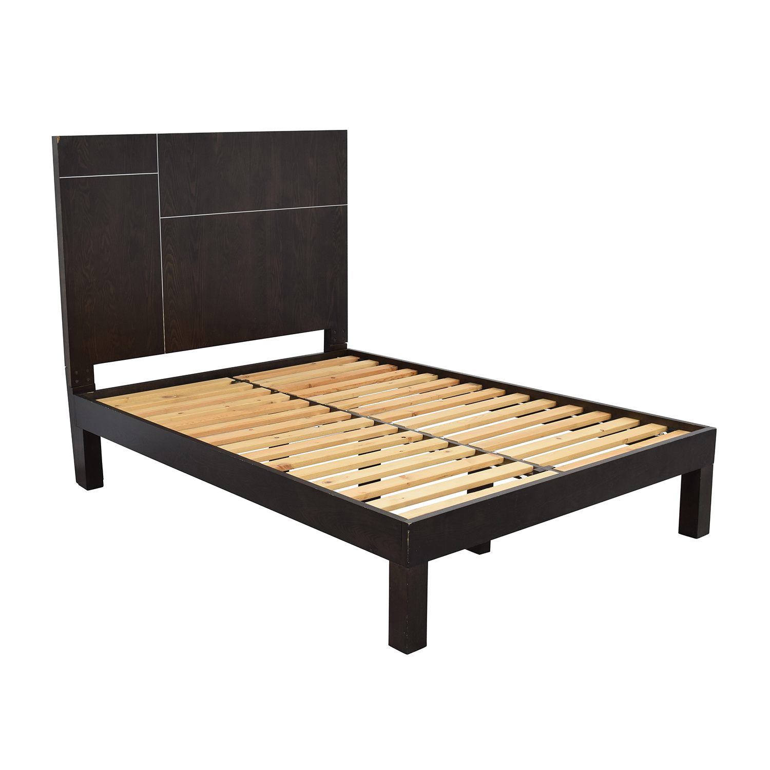 West Elm West Elm Dark Brown Full Size Bed Frame