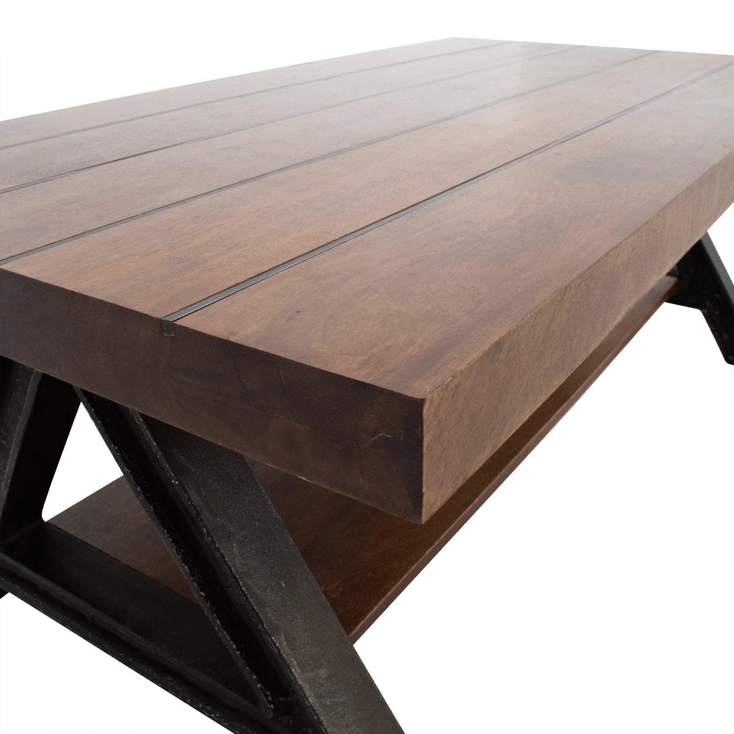 60 Off West Elm West Elm Wood And Metal Coffee Table