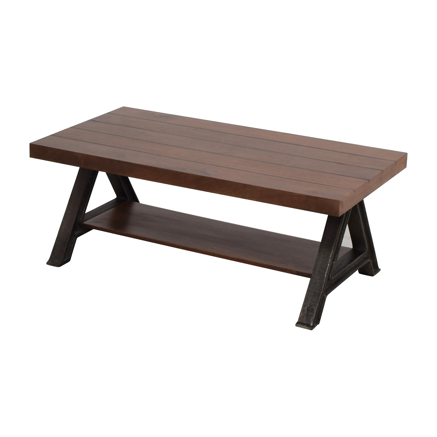 60 Off West Elm West Elm Wood And Metal Coffee Table Tables