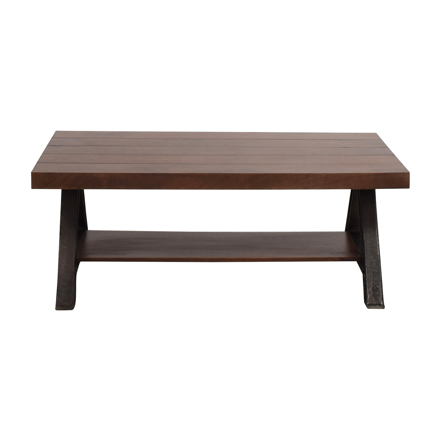 West Elm West Elm Wood And Metal Coffee Table Discount ...