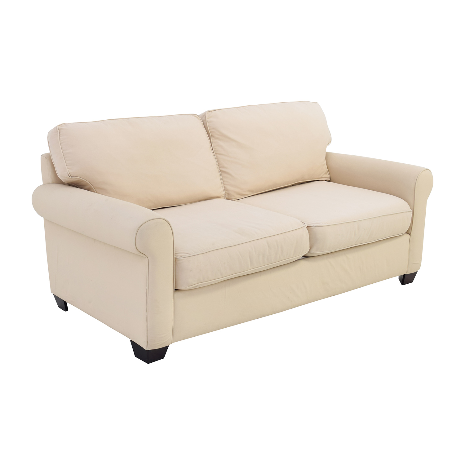 ... Pottery Barn Buchanan Roll Arm Beige Sofa Sale ...