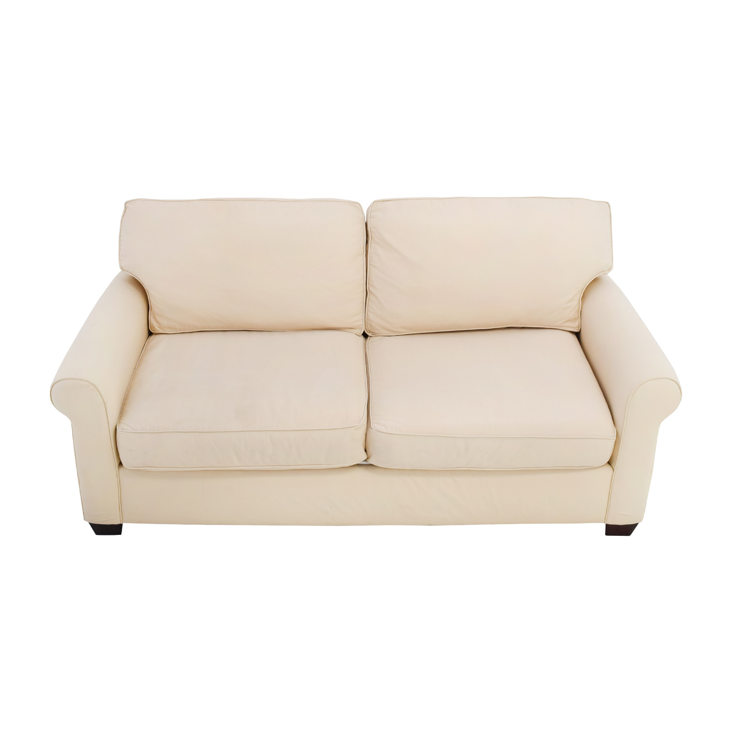 Charmant ... Pottery Barn Pottery Barn Buchanan Roll Arm Beige Sofa Second Hand ...