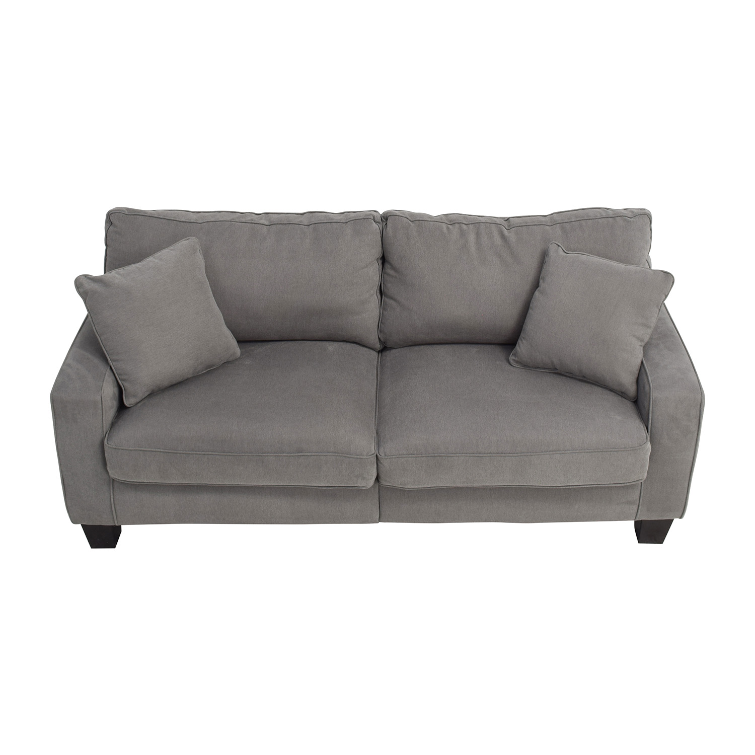 shop Serta Grey Couch with Toss Pillows Serta Classic Sofas