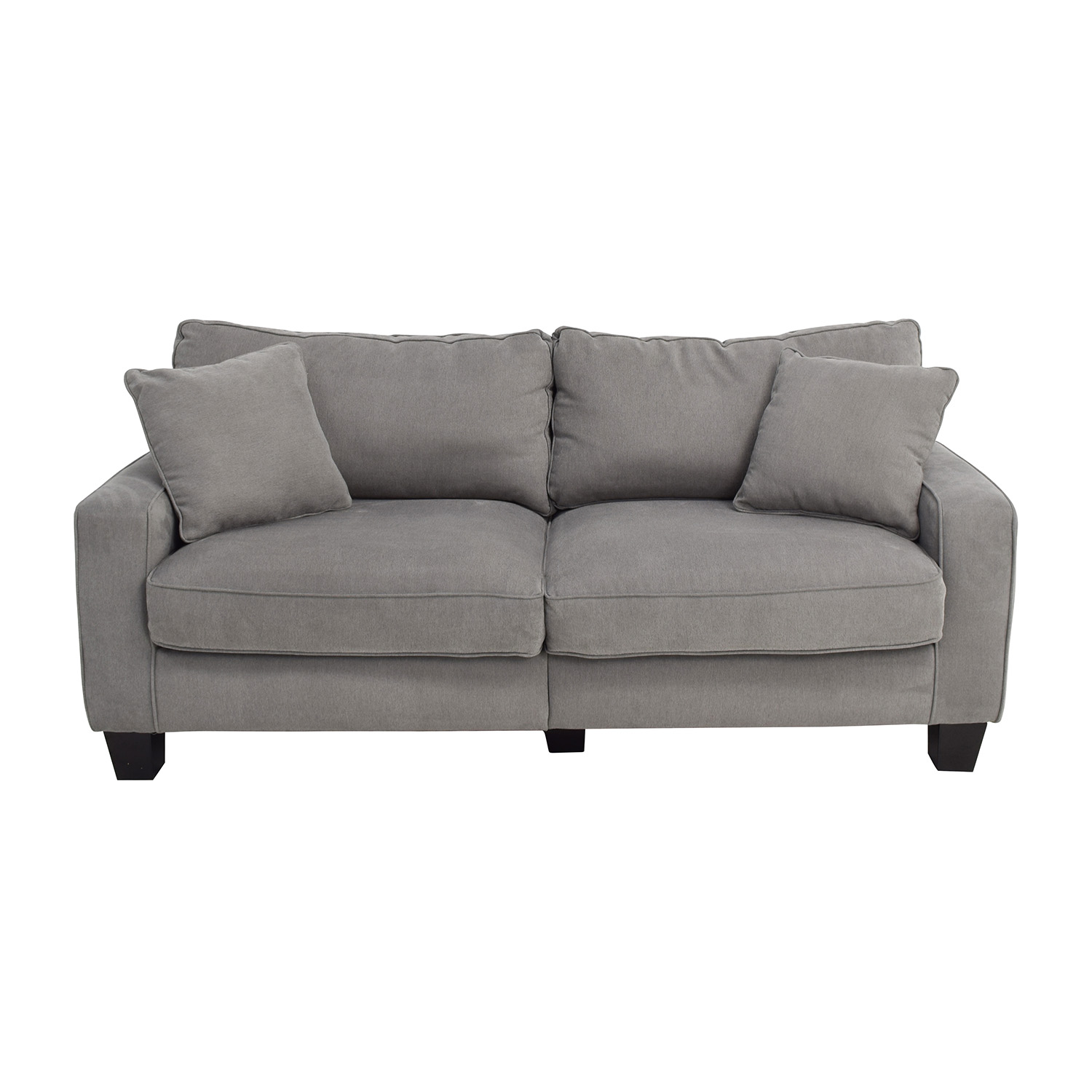 shop Serta Grey Couch with Toss Pillows Serta Sofas
