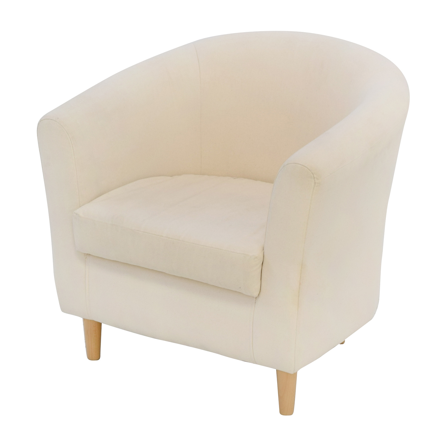 68 off cream accent chair chairs for Cream office chair