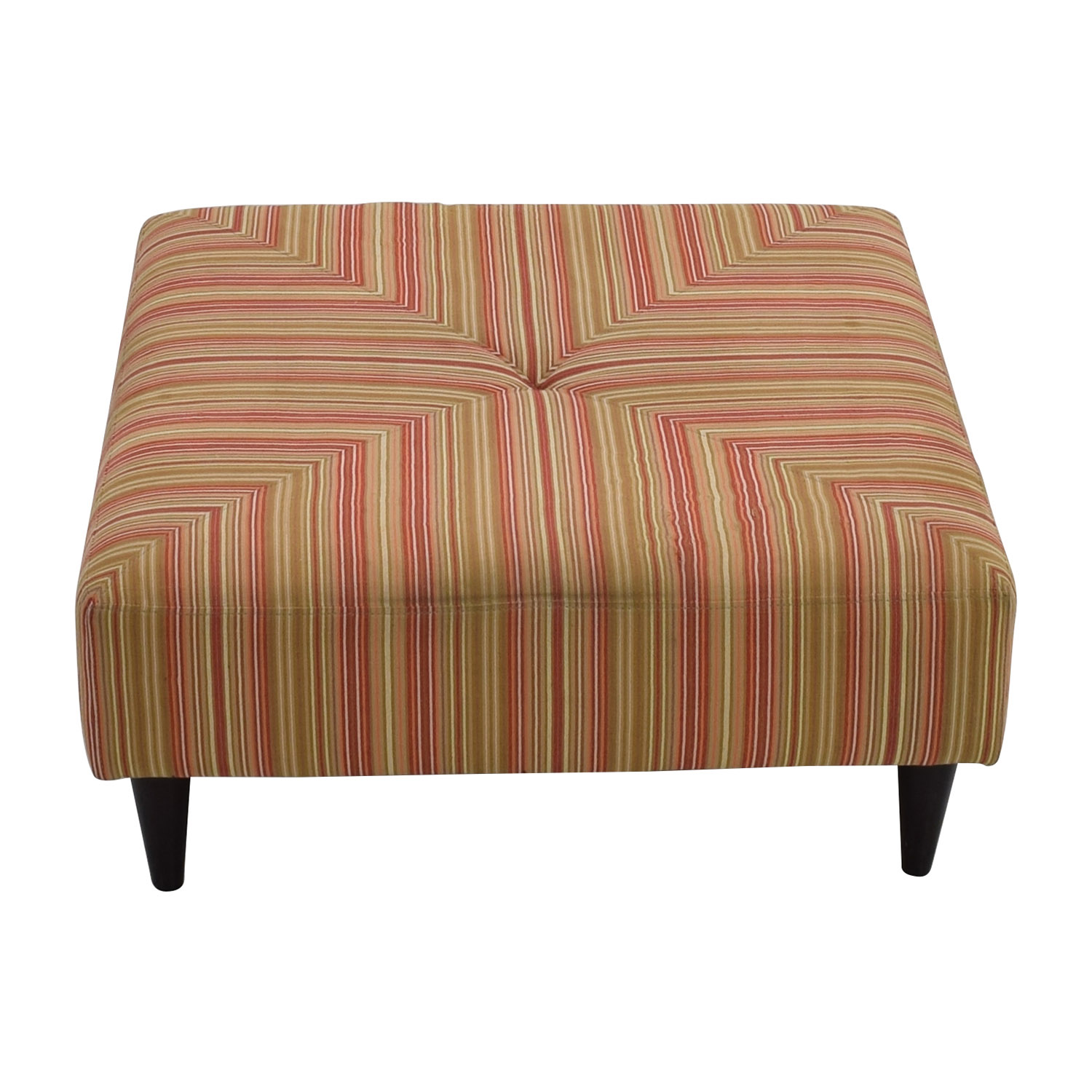 85 OFF Macys Macys Red and Green Striped Upholstered Ottoman