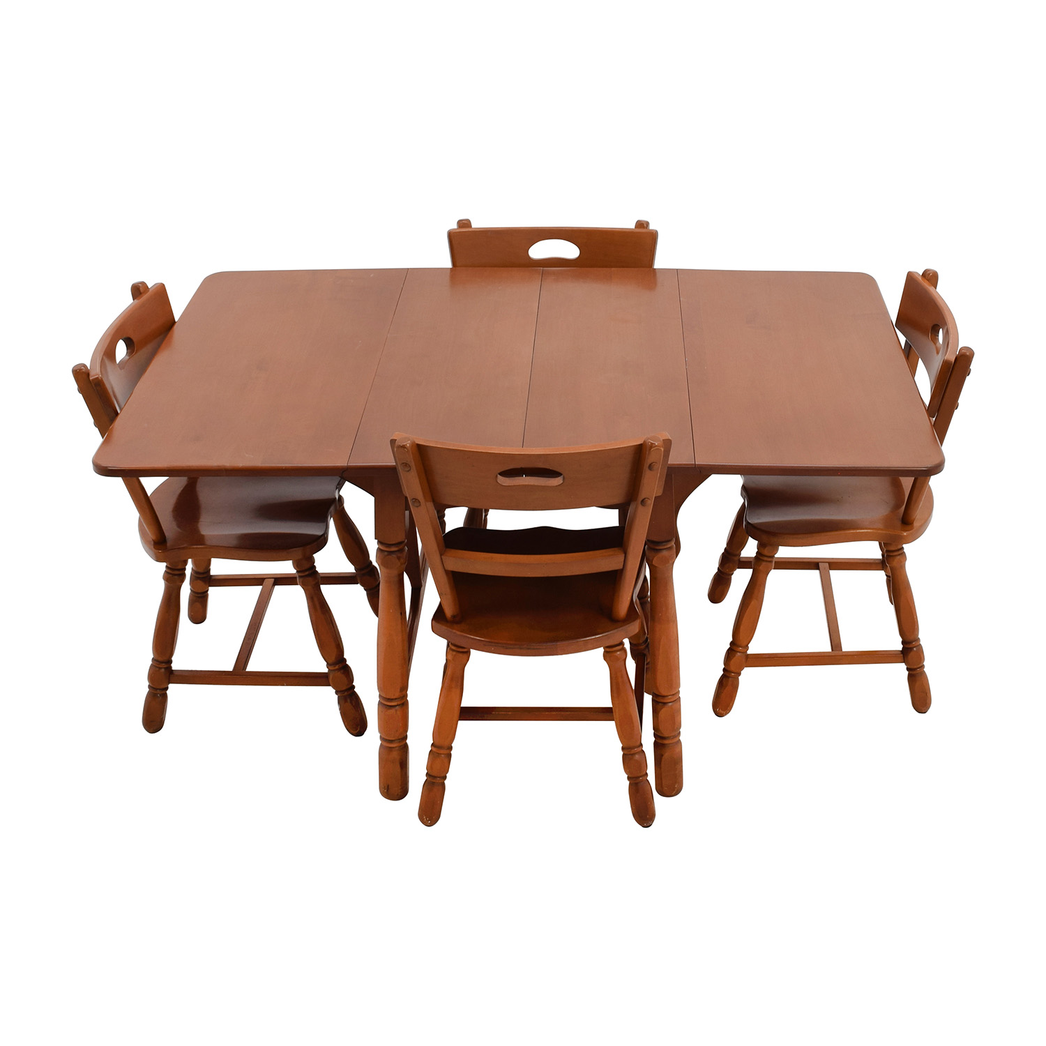 Maple Dining Table with Four Matching Chairs discount