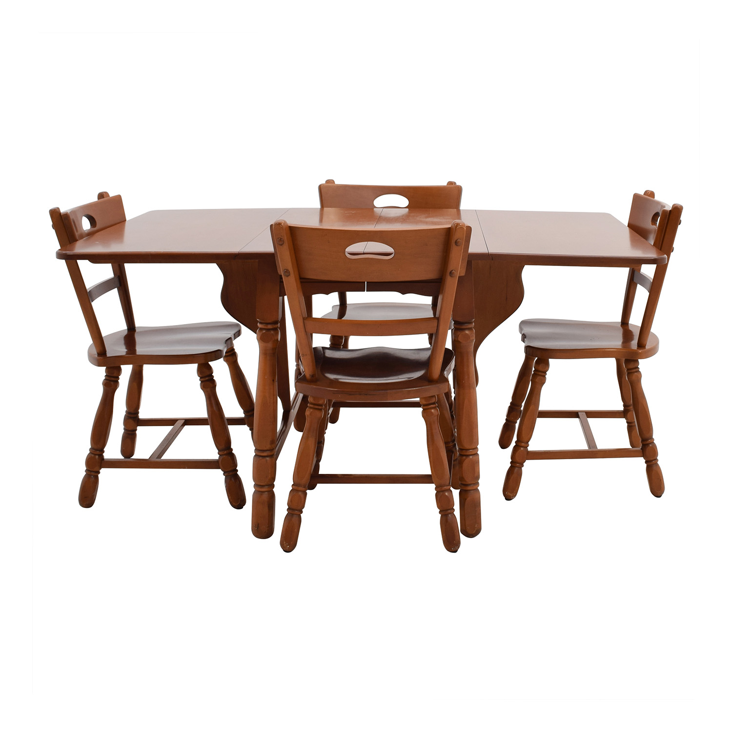 Maple Dining Table with Four Matching Chairs dimensions